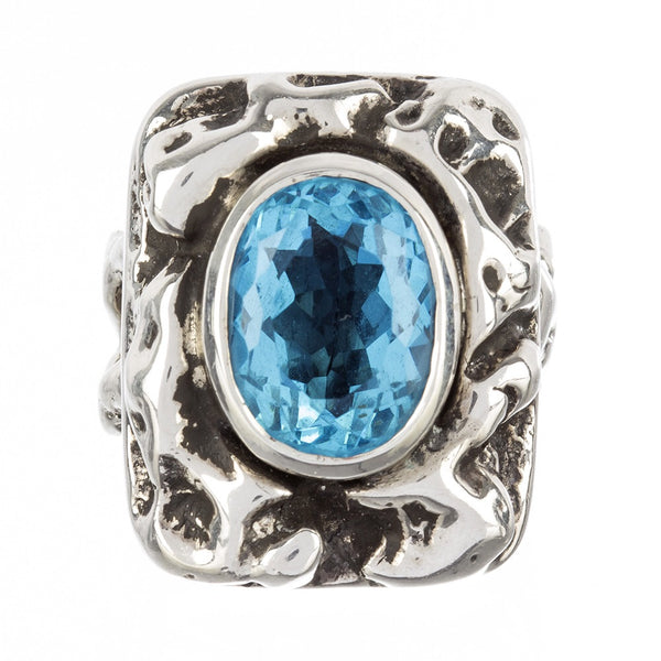 """Bohemian Blue"" Cocktail Ring"