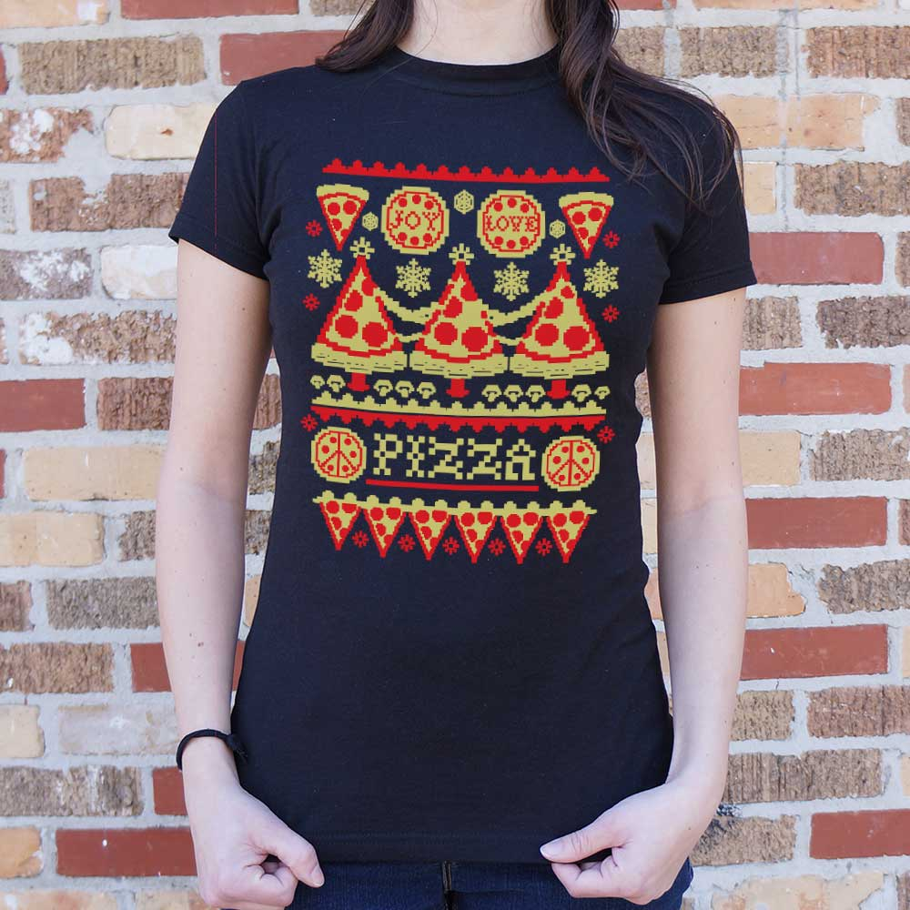 Ladies Ugly Pizza Sweater T-Shirt