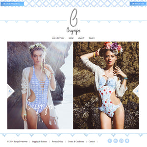 Brynja Swimwear - Photography and Web Design - Los Angeles, US based Shopify Experts Revo Designs