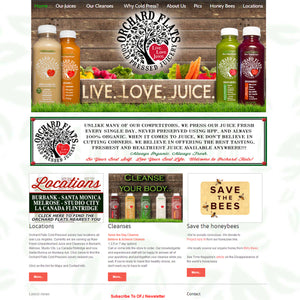 Orchard Flats Juicery - Photography and Web Design - Los Angeles, US based Shopify Experts Revo Designs
