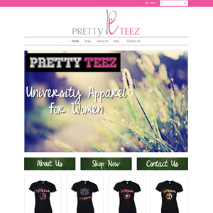 Pretty Tees - Photography and Web Design - Los Angeles, US based Shopify Experts Revo Designs