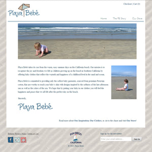 Playa Baby - Photography and Web Design - Los Angeles, US based Shopify Experts Revo Designs