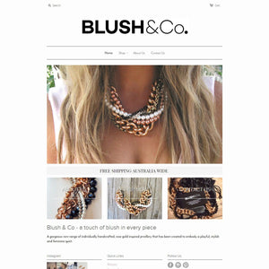 Blush & Co. - Photography and Web Design - Los Angeles, US based Shopify Experts Revo Designs