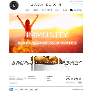 Java Elixir - Photography and Web Design - Los Angeles, US based Shopify Experts Revo Designs