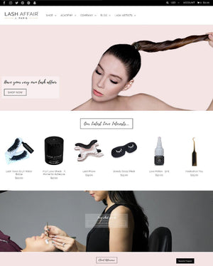 Lash Affair - Photography and Web Design - Los Angeles, US based Shopify Experts Revo Designs