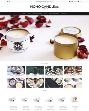 Noho Candle Co - Photography and Web Design - Los Angeles, US based Shopify Experts Revo Designs