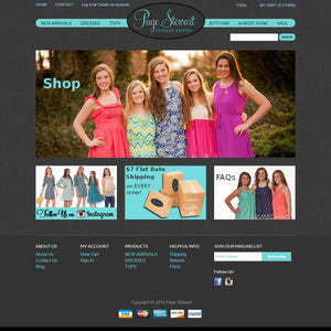 Page Stewart Collection - Photography and Web Design - Los Angeles, US based Shopify Experts Revo Designs