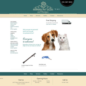 Pampered Pet Salon - Photography and Web Design - Los Angeles, US based Shopify Experts Revo Designs