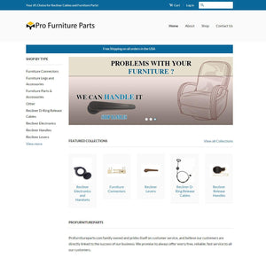 Pro Furniture Parts - Photography and Web Design - Los Angeles, US based Shopify Experts Revo Designs