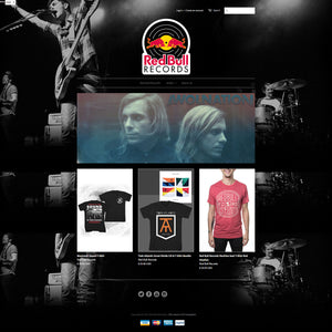Red Bull Records - Photography and Web Design - Los Angeles, US based Shopify Experts Revo Designs