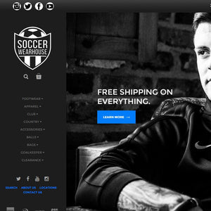 Soccer Wearhouse - Photography and Web Design - Los Angeles, US based Shopify Experts Revo Designs