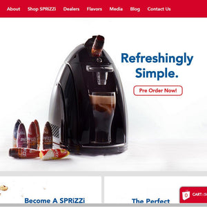 Sprizzi Drink Co. - Photography and Web Design - Los Angeles, US based Shopify Experts Revo Designs
