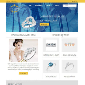 Venetian Jewelers - Photography and Web Design - Los Angeles, US based Shopify Experts Revo Designs