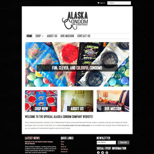 Alaska Condom Company - Photography and Web Design - Los Angeles, US based Shopify Experts Revo Designs