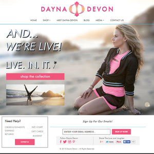 Dayna Devon - Photography and Web Design - Los Angeles, US based Shopify Experts Revo Designs