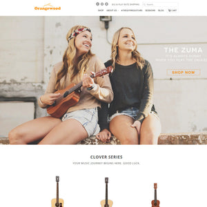 Orangewood Guitars - Photography and Web Design - Los Angeles, US based Shopify Experts Revo Designs