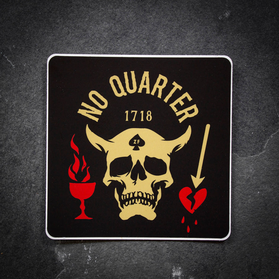 No Quarter Sticker