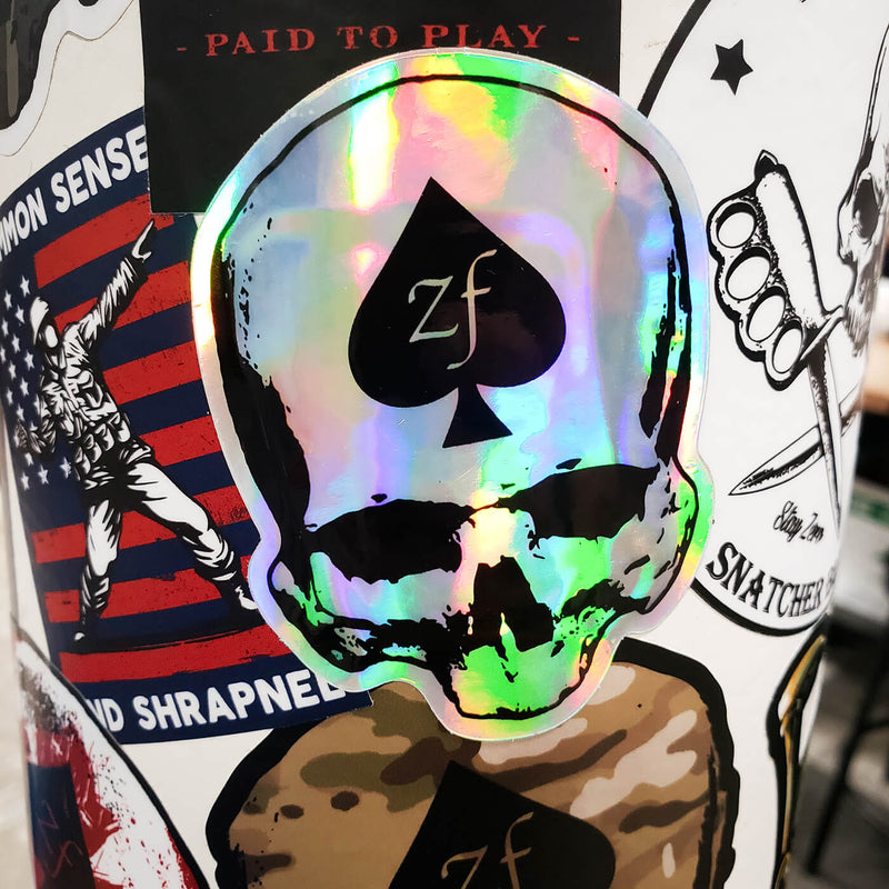 Holo Skull Sticker