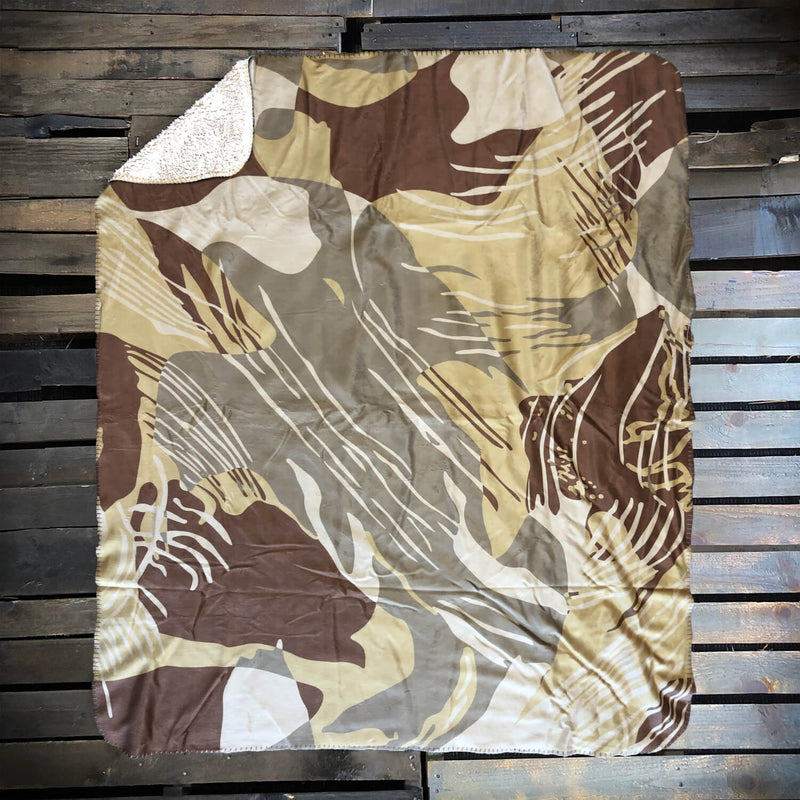 Rhodie Desert Fleece Blanket