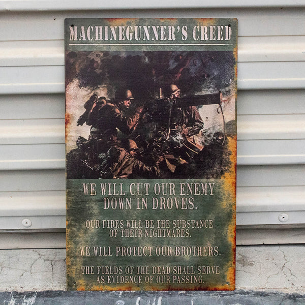 Machinegunner Creed