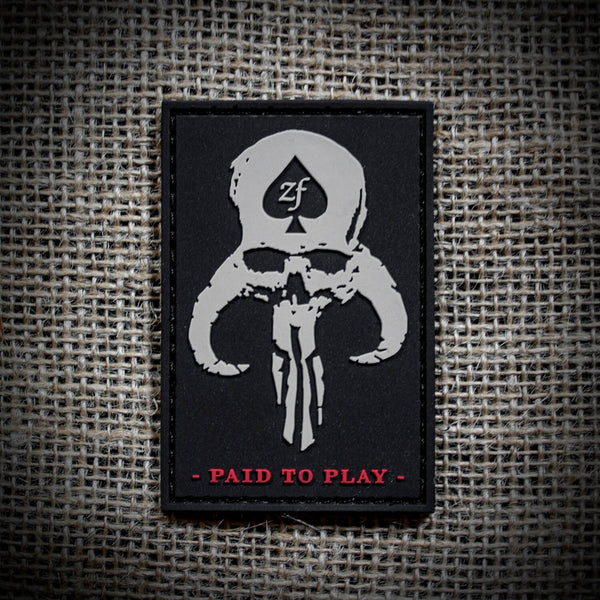 Paid To Play Patch (PVC)