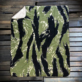 Tiger Stripe Fleece Blanket