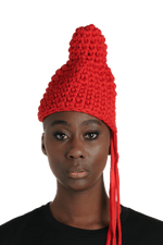 Badora (Badu x Flora) Beanie - Whore Red