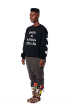 Badu in Africa Crewneck - Black