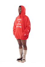Badu in Japan Hoodie - Red