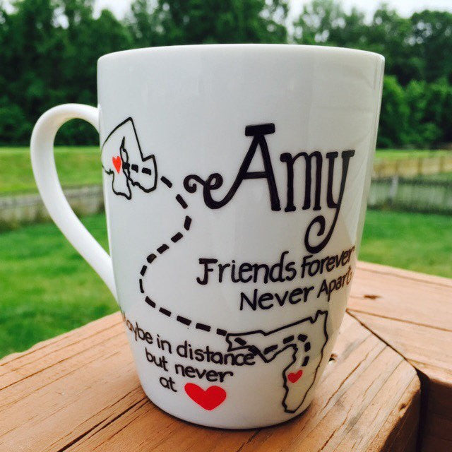 MUGS Best Friends Long Distance Best Friend Gift Ideas  Friend Mug Mugs