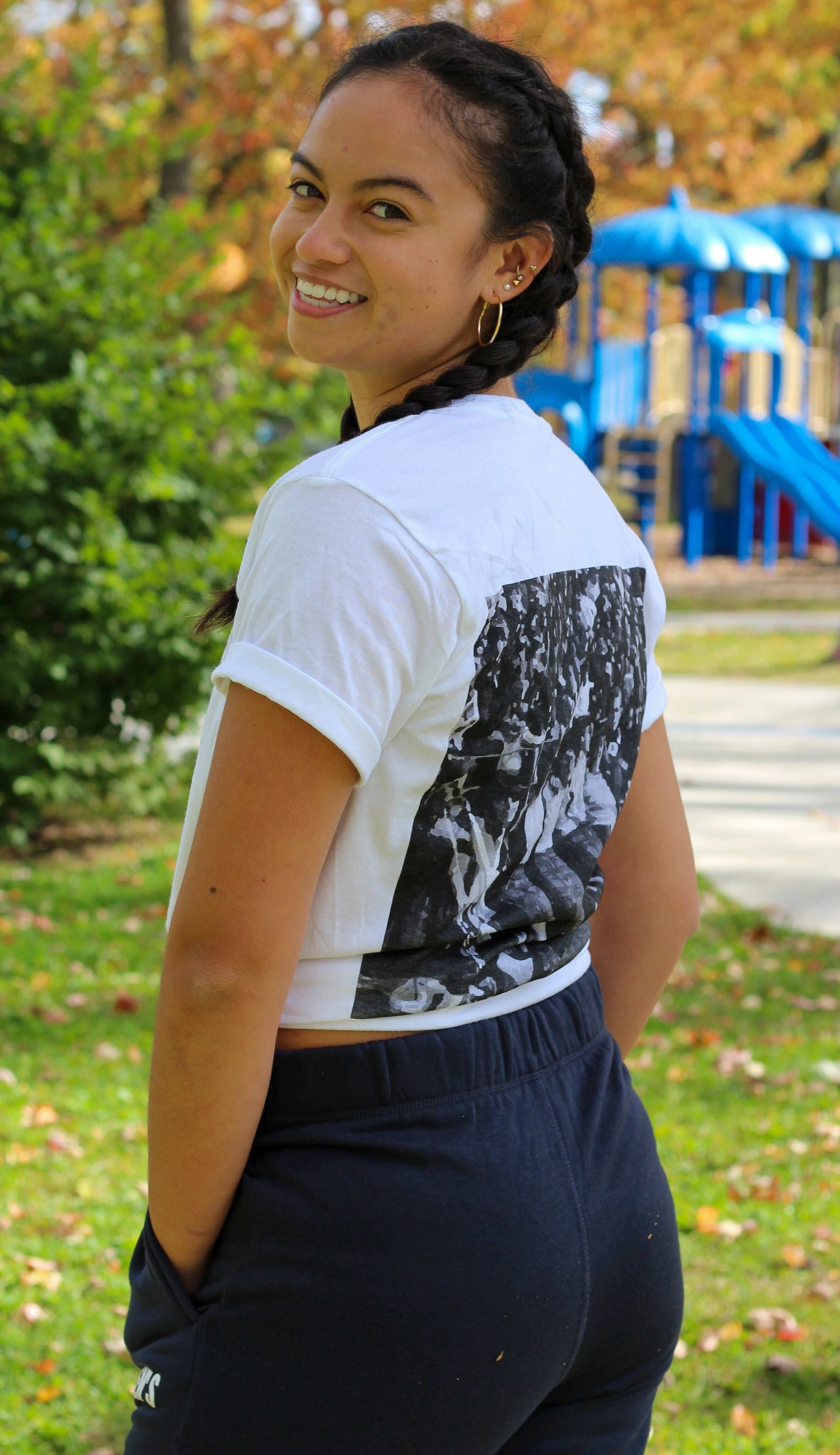 Vintage Oil Thigh T-Shirt