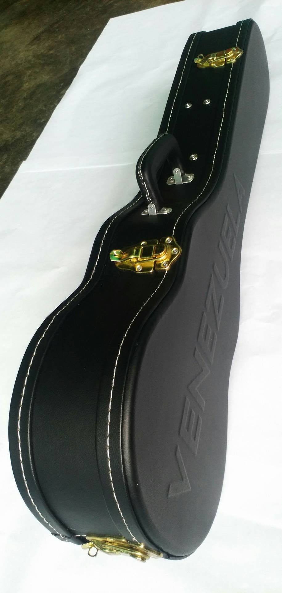 "Luxury Hardshell Case Cuatro 17 Fret - Engraved ""Venezuela"""