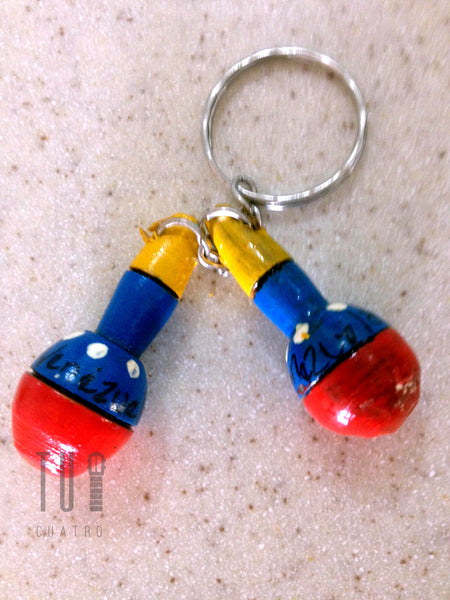 Maracas Keychain - Handcrafted in South America