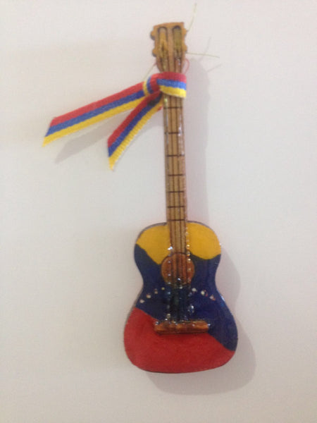 Cute and Captivating Mini Instrument Fridge Magnet painted with Venezuelan Flag