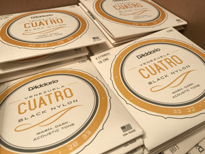 Cuatro Strings (D'addario) - Cuerdas de Cuatro. Unit or Packs