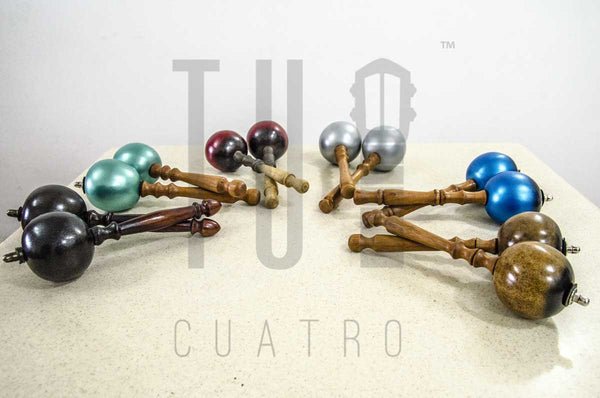 EUROPE OFFER ONLY: 2 Sets Handcrafted Maracas Artesanales