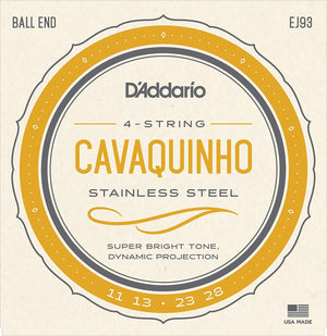 Cavaquinho Strings (D'addario EJ93) - Unit or Packs