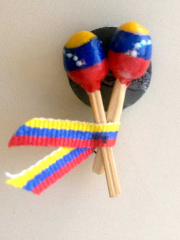 Cute Fridge Magnet - Venezuelan Maracas / Shakers. Decorative Magnet
