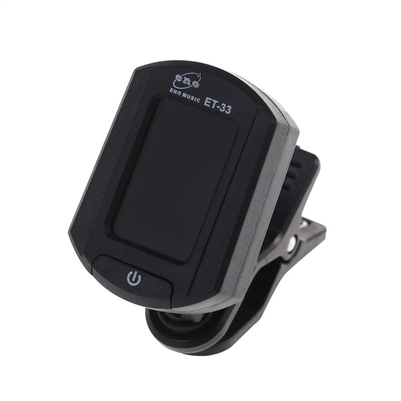 ENO ET-33 Mini Clip-on Digital LCD Chromatic Guitar Bass Violin Ukulele Chromatic Tuner