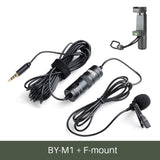 BOYA BY-M1 Lavalier Audio Video Microphone Clip-On Condenser Mic