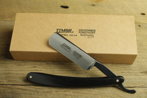 Timor Blue Steel 6/8 Straight Razor