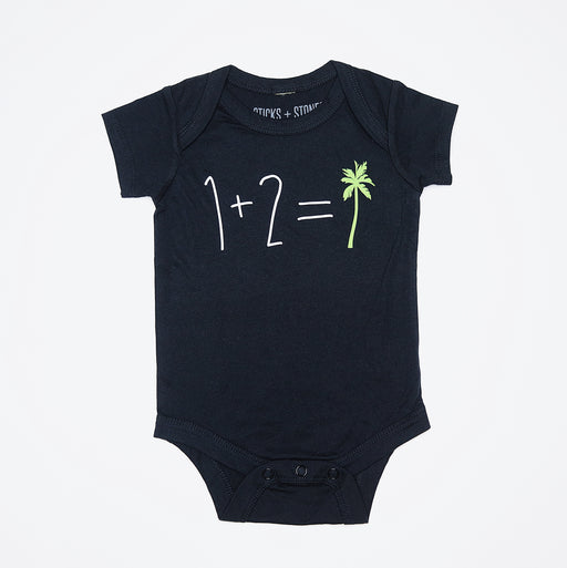 Sticks and Stones - 1+2=tree (Onesie/Tee)
