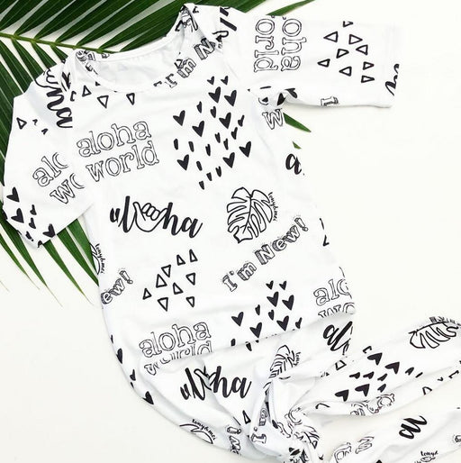 Tony & Mei- Knotted Infant Gown - Aloha Doodle