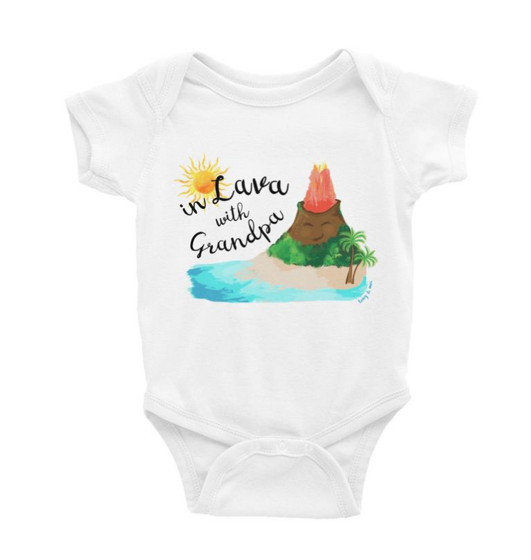 Tony & Mei - In Lava with Grandpa (Onesie/Tee)