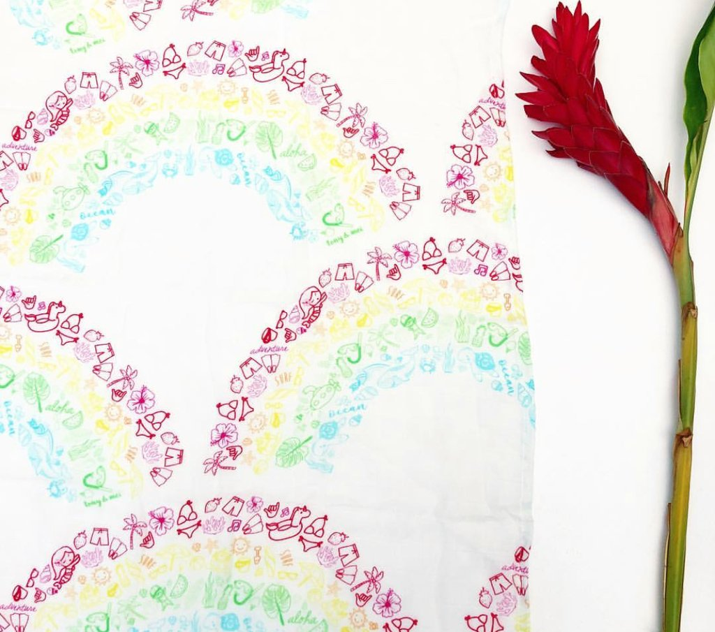 Tony & Mei - Ultra Soft Bamboo Muslin Swaddle - Recipe for a Rainbow
