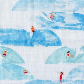 Little Unicorn - Cotton Swaddle - Surf