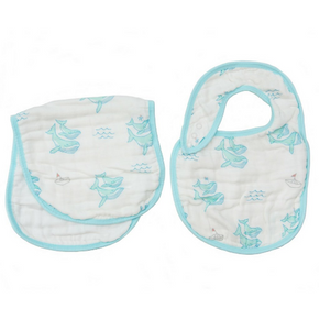 Coco Moon - Bib and Burp Cloth Set