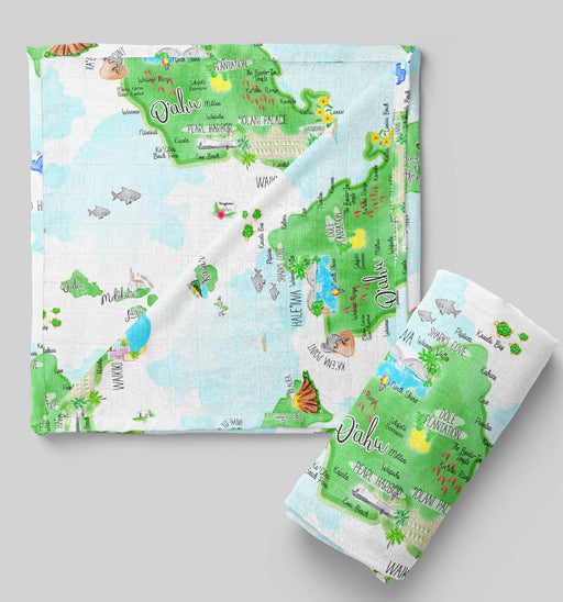 Island map swaddle