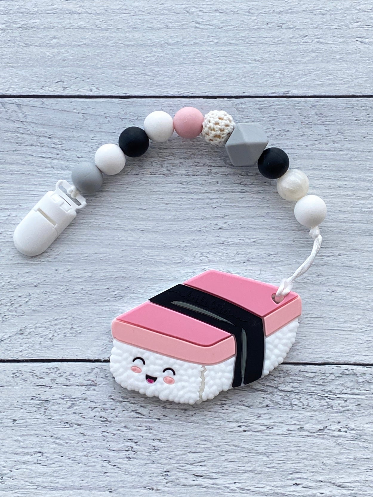 Spam musubi teether