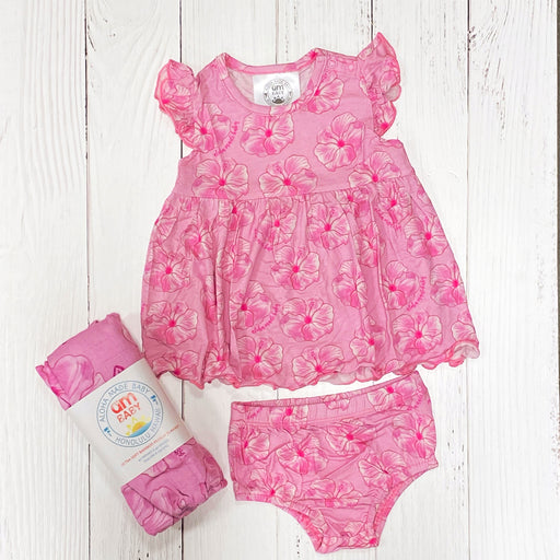 Aloha Made Baby | Hibiscus Dress Set